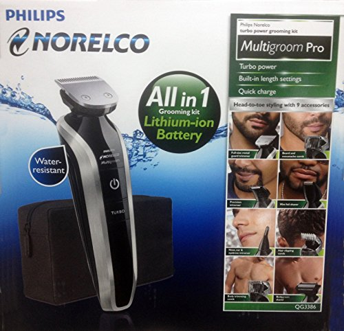 Philips Norelco All-in-1 Turbo Head to Toe Grooming Kit Multigroom Pro 110-220 International Worldwide Dual - Swimwear International