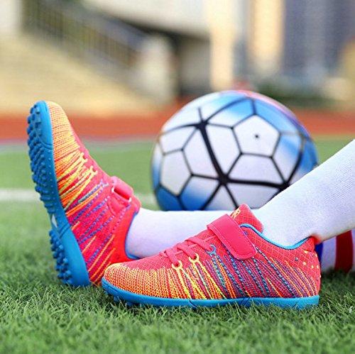 Xing Lin Fußballschuhe Neue GirlS Fußball Schuhe Kaputt Nägel Künstliche Gras Rutschfeste Verschleiß Kleiner Hof Kinder Sportschuhe, 33 Kleine Ein Yard 21 Cm, Rose 528