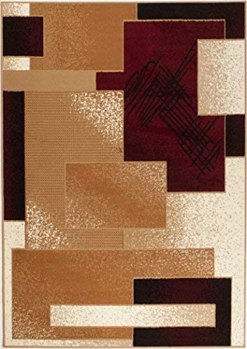 CHATEAU RUGS New Chateau CH05 Burgundy Cream White Biege Style Area Rug Available in Aprox Size , 8 X 11 ACTUAL IS 7 4 X 10 6