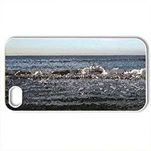 Beach - Case Cover for iPhone 4 and 4s (Beaches Series, Watercolor style, White) by icecream design