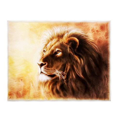 kksme 58 x 80 Inch Lion Pattern Soft Throw Blanket for Bed Couch Sofa Lightweight Travelling Camping Throw Size for Kids Boys Women All Season... (The Lion King Throw Blanket)