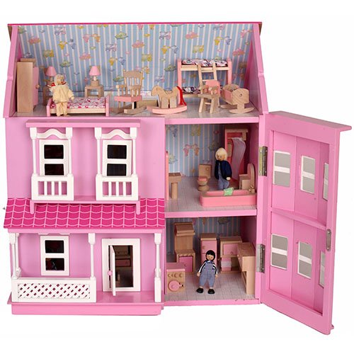 Pink Wooden Dolls House Furniture Roselawnlutheran