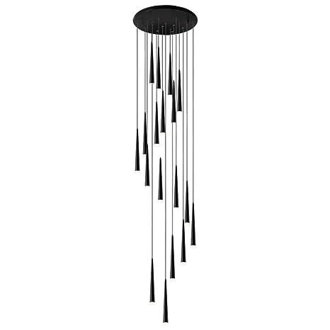 Escalera Larga Araña LED Downlight Largo Duplex Creativo Girar Moderno Simple Lluvia De Meteoros Decoracion (8): Amazon.es: Iluminación