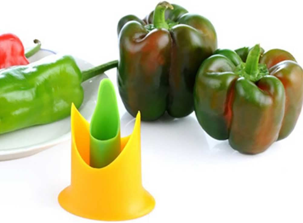 Pepper Corer Fruit Vegetable Tool Kitchen Accessories Twist to Core /& Seed Bell /& Chili Peppers Pepper Seed Seeder Pepper Tomatoes Paprika Vegetable Seeder Corer Remover Tool