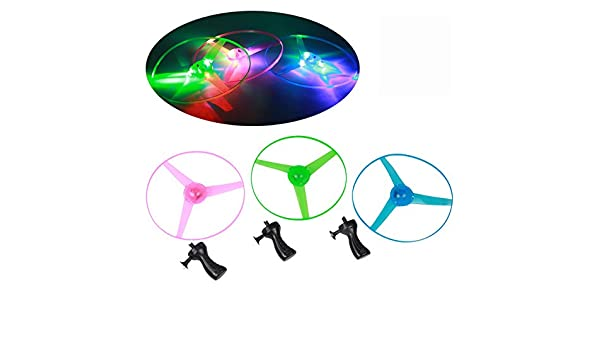 CHENWENEED Juguetes niños,Funny Colorful Pull String UFO LED ...