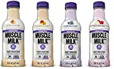 Muscle Milk Smoothie Bundle of Twelve Assorted 16 Oz Bottles: 3 each of Blueberry, Mango Tangerine, Peach and Strawberry Banana by Muscle Milk Smoothie