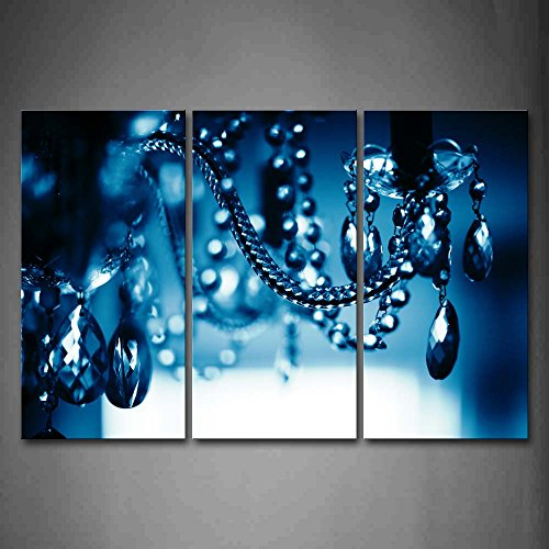 Firstwallart Chandelier Blue Dark Wall Art Painting Pictures Print On Canvas Art The Picture For Home Modern Decoration For Sale