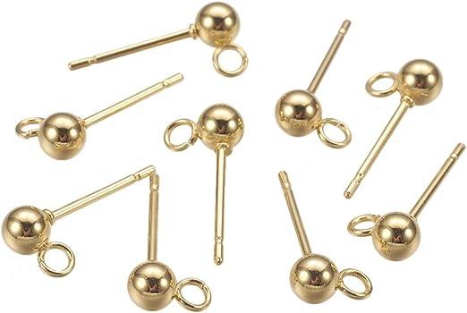 30 pieces 1899 stainless steel earrings 3mm Stainless Steel earstud stud earrings post earrings flat pad earrings
