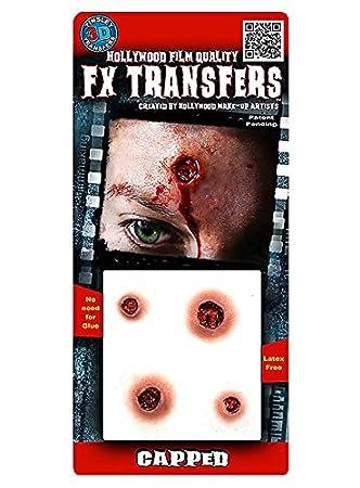 FX Transfers Einschusslöcher Make-up Set für Halloween, Karneval und ...