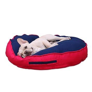 LJ-PET Suave Cama de Perro, Lavable Nido para Mascotas Cojín para Perros Acolchado