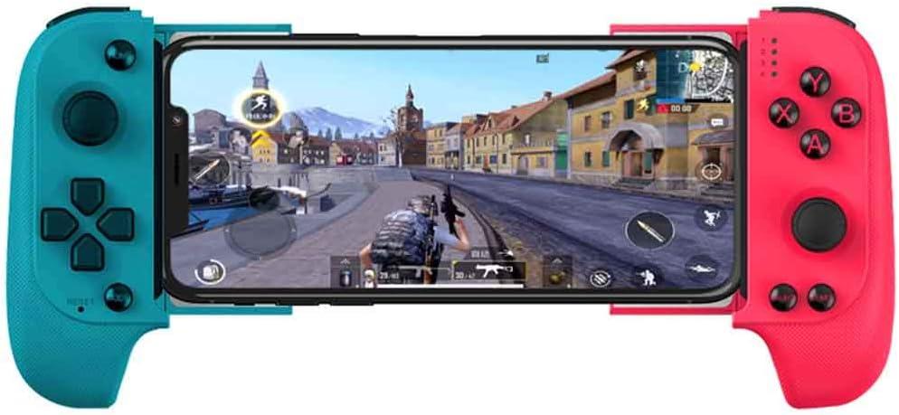 YT Gamepad Bluetooth inalámbrico, controlador móvil, controlador de juego retráctil telescópico conexión juego clip Joystick para Android iOS compatible, 01