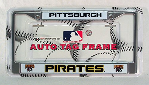 - Rico Pittsburgh Pirates MLB Chrome Metal License Plate Frame