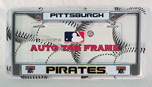 Rico Pittsburgh Pirates MLB Chrome Metal License Plate Frame
