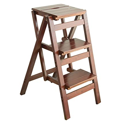Kitchen Step Ladder | Amazon Com Upstairs 3 Step Ladder Step Stool Foldable