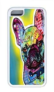 TYH - french bulldog 5 Custom ipod Touch4 Case Cover TPU White ending phone case