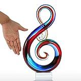 Tooarts Multicolorrts Music Note Glass Sculpture