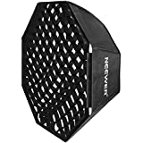 Neewer 32 x 32/80cm x 80cm Grid Octagon Umbrella Speedlite Softbox with Bowens Mount Speedring for Nikon,Canon,Sony,Pentax,Olympus,Panasonic Lumix,Neewer Speedring Flash and Other Small Strobe Flashes