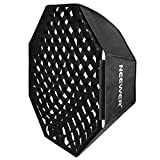 Neewer 32'' x 32''/80cm x 80cm Grid Octagon Umbrella Speedlite Softbox with Bowens Mount Speedring for Nikon,Canon,Sony,Pentax,Olympus,Panasonic Lumix,Neewer Speedring Flash and Other Small Strobe Flashes
