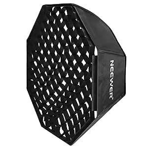 "Neewer 32"" x 32""/80cm x 80cm Grid Octagon Umbrella Speedlite Softbox with Bowens Mount Speedring for Nikon,Canon,Sony,Pentax,Olympus,Panasonic Lumix,Neewer Speedring Flash and Other Small Strobe Flashes"