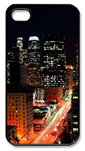 Los Angeles Lights Custom iPhone 4 and iPhone 4s Case Cover - PC Material- Black