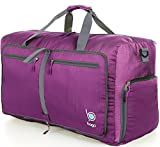 Bago Travel Duffel Bag For Women & Men - Foldable Duffle For Luggage Gym Sports - 23'' (Medium, Purple)