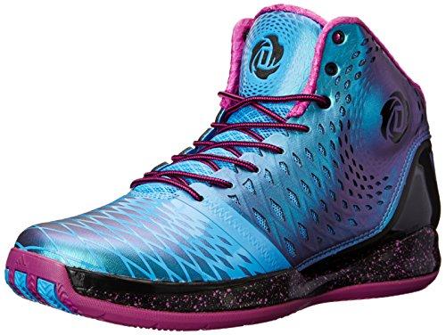 adidas Performance Men's D Rose 3.5 Basketball Shoe, Core Black/Joy Blue/Vivid Pink, 12 M US
