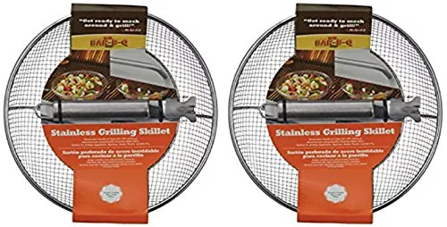 Mr. Bar-B-Q 06814X Stainless Steel Mesh Grilling Skillet (2 Pack) by Mr. Bar-B-Q