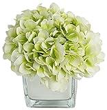 RG Style Silk Hydrangea in Decorative Vase Artificial Floral Arrangement
