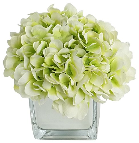 RG Style Silk Hydrangea in Decorative Vase Artificial Floral Arrangement by RG Style