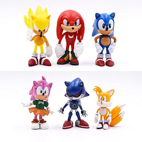 Sonic 6 figuras de juguete decoración para tarta decoración ...