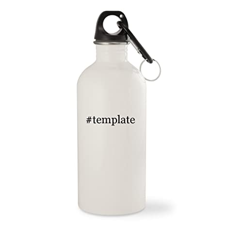 Amazon template white hashtag 20oz stainless steel water template white hashtag 20oz stainless steel water bottle with carabiner maxwellsz