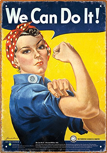 Aquarius Smithsonian Rosie the Riveter Tin Sign