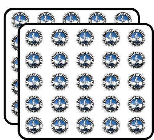Round Mount ST Helens National Monument (Travel rv Washington wa) Sticker for Scrapbooking, Calendars, Arts, Kids DIY Crafts, Album, Bullet Journals