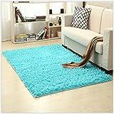 OYRE modern Simple decoration living room bedroom Non-slip plus thick carpet Yoga rug (Royal blue, 4- Feet By 5.2- Feet)