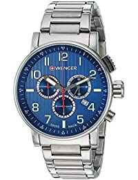 Men's 'Attitude Chrono' Swiss Quartz Stainless Steel Casual Watch, Color:Silver-Toned (Model: 01.0343.106)