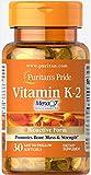 Puritan's Pride Vitamin K-2 (MenaQ7) 50 mcg-30 Softgels