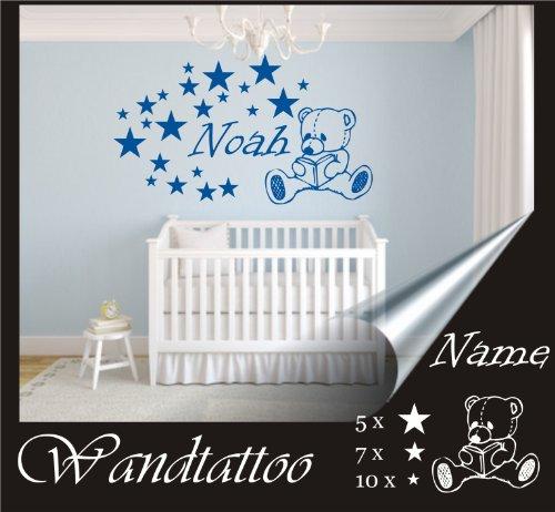 """Wandtattoo babyzimmer  das-label Wandtattoo Kinderzimmer Sterne """"kinderzimmer_mix1 ..."""