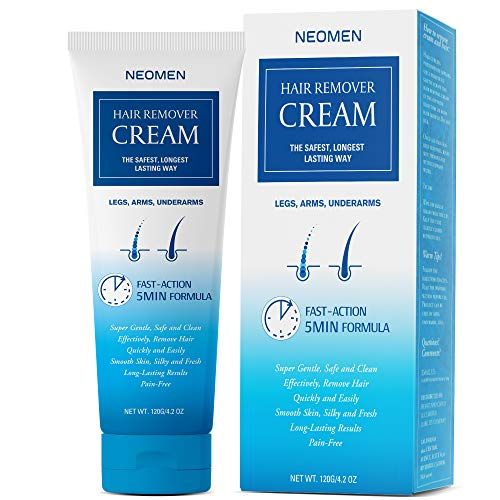 Neomen Hair Removal Cream - Super Gentle & Safe Depilatory Cream - Skin Friendly Painless Flawless Hair Remover Cream For Men