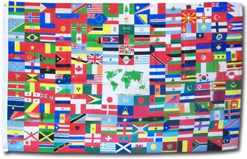 World Flag - 3' x 5' Nylon (World Flag)
