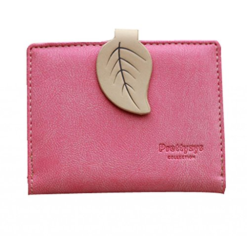 New fashion lady women retro leaf purses Hit color wallets card holder bags
