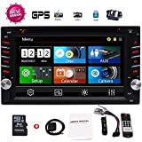 EinCar 2 Din Car GPS Navigation 6.2 Capacitive Touch Screen in-Dash Car Stereo DVD CD Bluetooth GPS Radio Entertainment support USB SD AUX 1080P in with 8G Navi Card + Rear View Camera