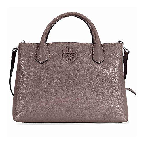 Tory Burch borsa donna a mano shopping in pelle nuova mcgraw marrone