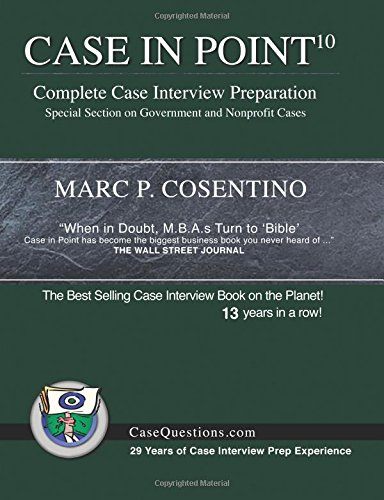 Case In Point 10  Complete Case Interview Preparation