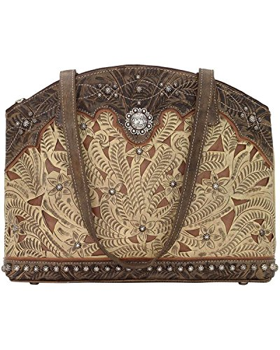 American West Women's Annie's Conceal Carry Half Moon Purse Sand One Size by American West