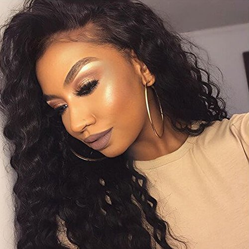 Search : Wowsexy Hair Deep Wave Lace front Human Hair Wigs for African American Women 130% Density Brazilian Virgin Human Hair Curly Wigs with Baby Hair around Perimeter for Black Women