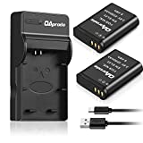 OAproda 2 Pack EN-EL23 Batteries and Ultra Slim Micro USB Battery Charger for Nikon Coolpix B700, P900, P600, P610, S810c Digital Camera (Less Weight-Fast Charge)