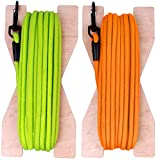 BRONZEDOG Check Cord 30ft Long Dog Training Leash Tracking Line Heavy Duty Rope Lead for Dogs Puppy on Wooden Winder (Neon Green)