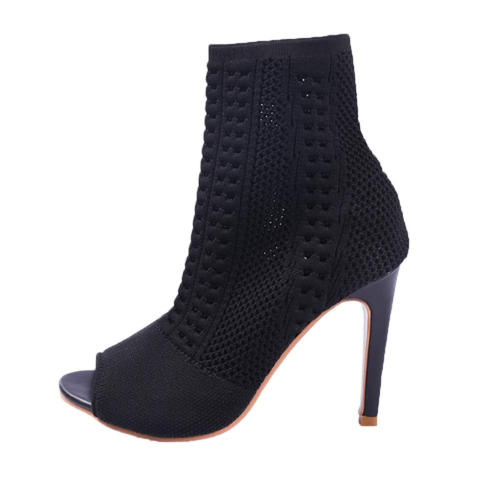 ❤ Botas de Mujer Delgadas de tacón Alto, Verano Antumn Short Tobillo Boot Ladies High Heels Boot Thin Heels Fish Mouth Absolute: Amazon.es: Ropa y ...