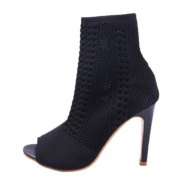 ❤ Botas de Mujer Delgadas de tacón Alto, Verano Antumn Short Tobillo Boot Ladies High Heels Boot Thin Heels Fish Mouth Absolute: Amazon.es: Ropa y ...