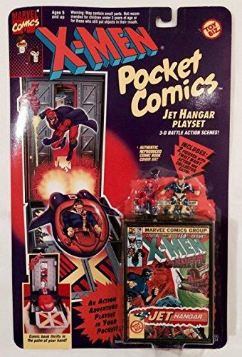 X-Men Pocket Comics Jet Hangar Playset (Gambit X Men Days Of Future Past)